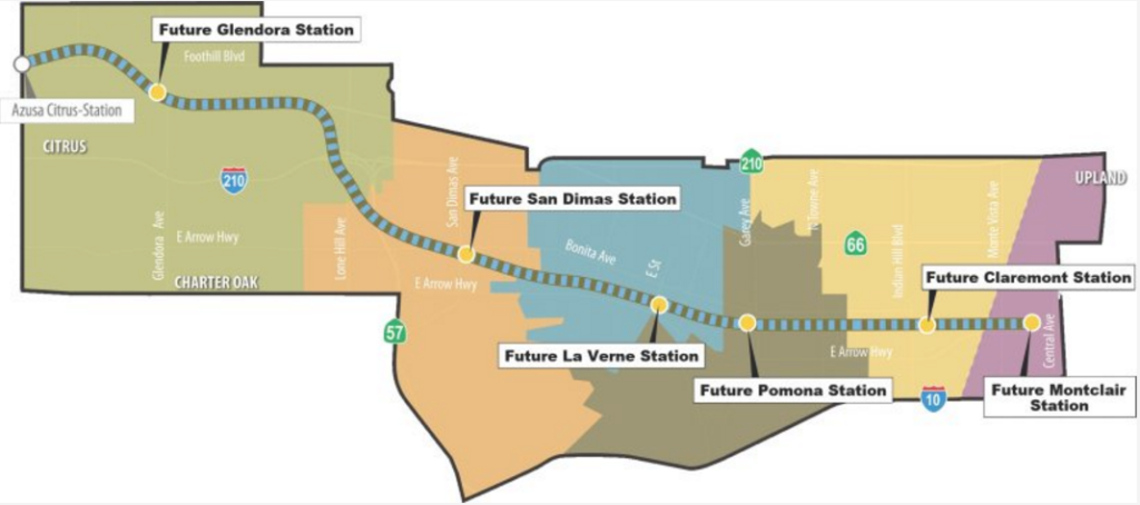 LA Metro Expansion Station Map Montclair
